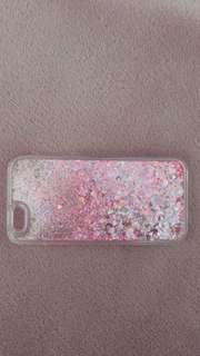 Clear case with pink sparkles - iPhone6/6s