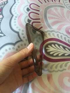 iPhone 6/ 6s dark grey transparent phone case