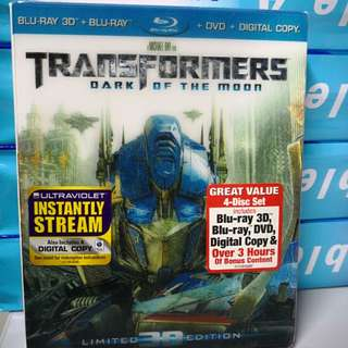 Transformers dark of the moon blu ray 3D