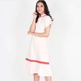 ruffle dress cheongsam