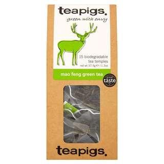 英國teapigs 有機綠茶 立體茶包15入