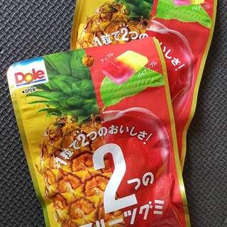 現貨 日本不二家雙水果軟糖 DOLE鳳梨蘋果QQ糖