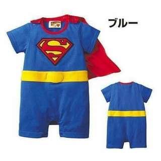 SuperMan Superhero Costume 0-6mos - Clothing