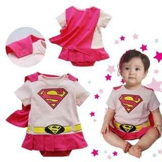 SuperGirl Superhero Costume 6-12mos - Clothing