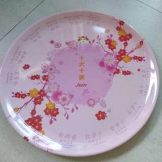 Yusheng plate with long chopsticks