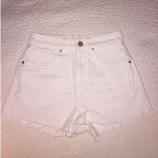 Factorie White Denim Shorts