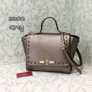 Valentino Rockstuds Handbag Silver Grey Bag