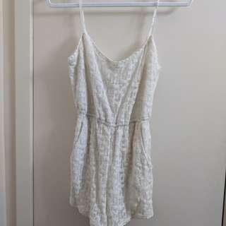 White lace romper size s