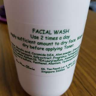 Facial wash for acne skin