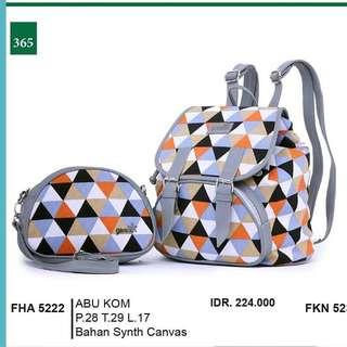 Tas punggung + dompet
