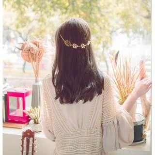 (包郵) H1 女神範 蝴蝶 樹葉 後掛式 韓式髮鍊