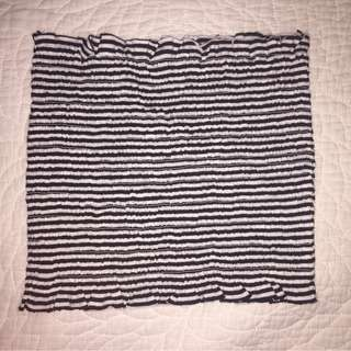 GLASSONS - stripped shirred tube top