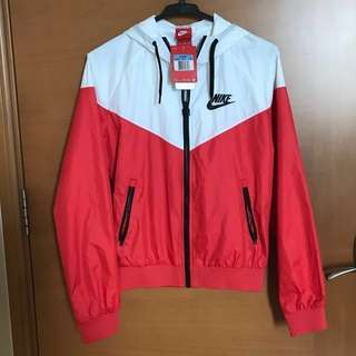BRAND NEW Nike red and white windbreak