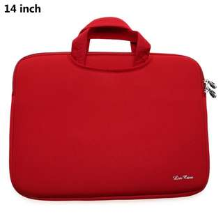 14 INCH LAPTOP BAG TABLET ZIPPER POUCH (RED) 37.50 x 30.00 x 2.00 cm