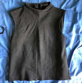 Zara grey sleeveless top