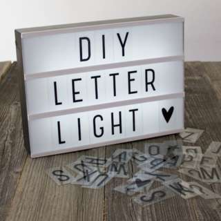 <PROMOTION $22> DIY Cinematic LightBox Letter A4 Party Deco