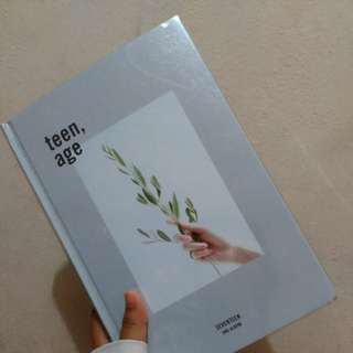 SEVENTEEN UNSEALED TEENAGE ALBUM WHITE VER