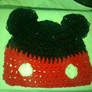 Mickey Mouse Crocheted Bonnet