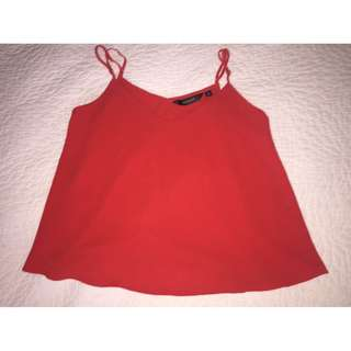 GLASSONS - red flowy top