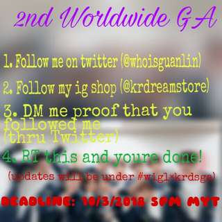 [PROMOTE] 2ND WORLDWIDE GIVEAWAY