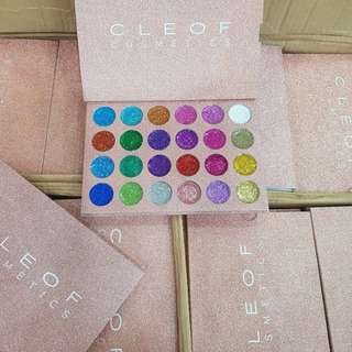 CLEOF Cosmetics Unicorn Glitter Eyeshadow Palette 24 Colors Makeup Shimmer Eye Shadow Palette