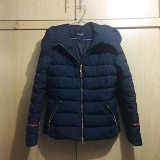 70%new 黑色 特別款 羽絨 修身 外套 Korea style black duck down jacket moncler gucci