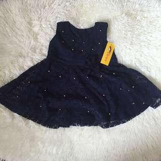 Navy Dress Brukat Baby #ImlekHoki