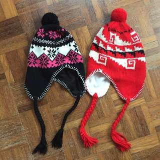 Winter hats with flaps