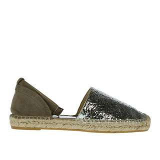 NEW Equitare size 6 silver leather Espadrilles