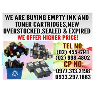 BUYER OF NEW AND EMPTY INK / TONER CARTRIDGES
