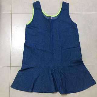 Denim Blue Flare Dress/Top