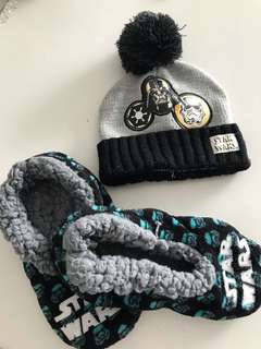 Star Wars beanie and slip on for boys