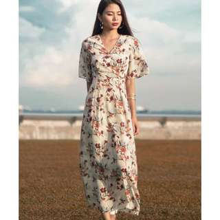 MGP Thistle Floral Maxi Dress in Cream