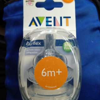 3 sets of new seal Philips Avent teats 6m+