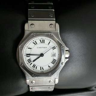Cartier Santoz Octagon Automatic Watch