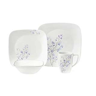PO-Corelle Square 16-Piece Dinnerware Set, Jacaranda, Service for 4