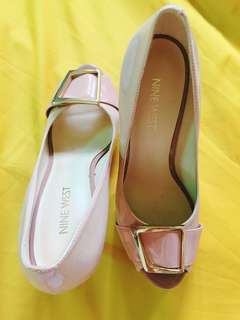 Nude heels 9cm size 51/2 or 35,5