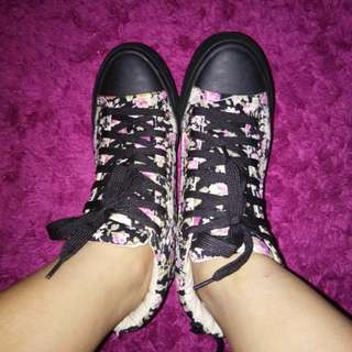 Flower high shoes
