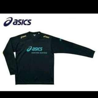 全新 購自日本 原裝 Asics XW6603 長袖排球T恤 (黑色)原價 $3300 円