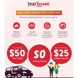 SMRT Taxi Share (Hourly and Short Term Taxi Rental)