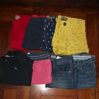 Bermudas, jeans and pants