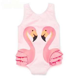 Pink Flamingo Swimsuit for 3 to 5 yrs old