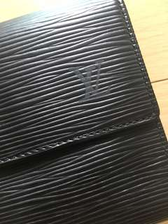 LV leather wallet with box original