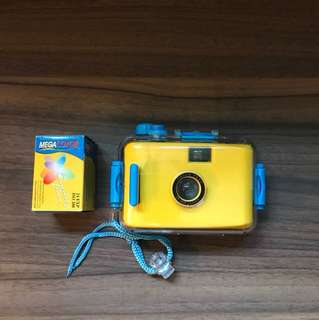 Waterproof camera with film
