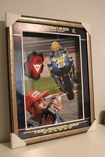 Valentino Rossi autographed collectible - framed puck