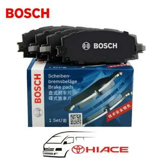 Bosch Brake Pads             Toyota Hiace