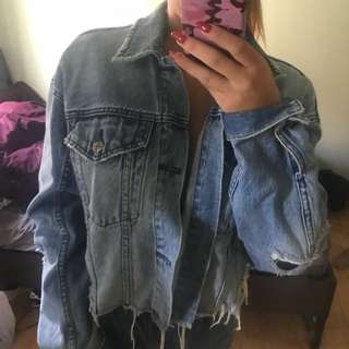 "Ksubi ""daggerz"" crop denim jacket"
