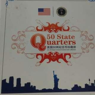 美國五十州錢幣加紙幣 真錢幣