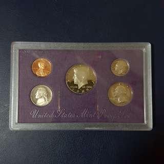 🇺🇸 1988 USA Proof Coin Set (5pcs Set)