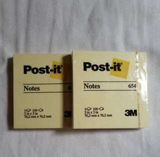 Yellow Post It sticky Notepad